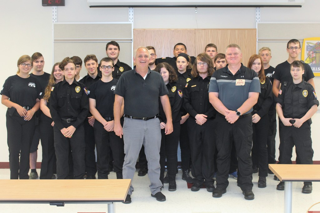 Protective Service Students, Instructor Ed Carter, Guest Speaker Joe Johnson, In-Sync Systems