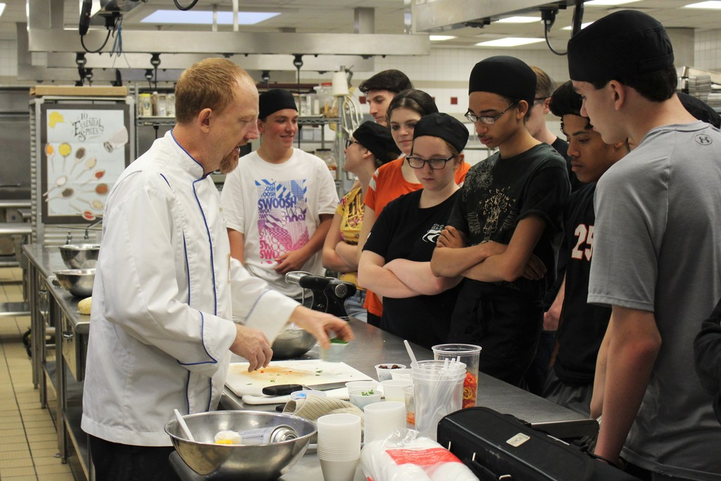 Chef Jeff Cecil and Morning Culinary Arts Students