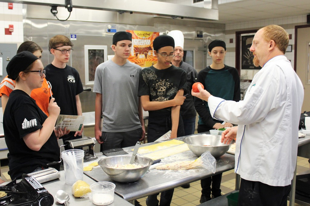 Chef Jeff Cecil and Afternoon Culinary Arts Students