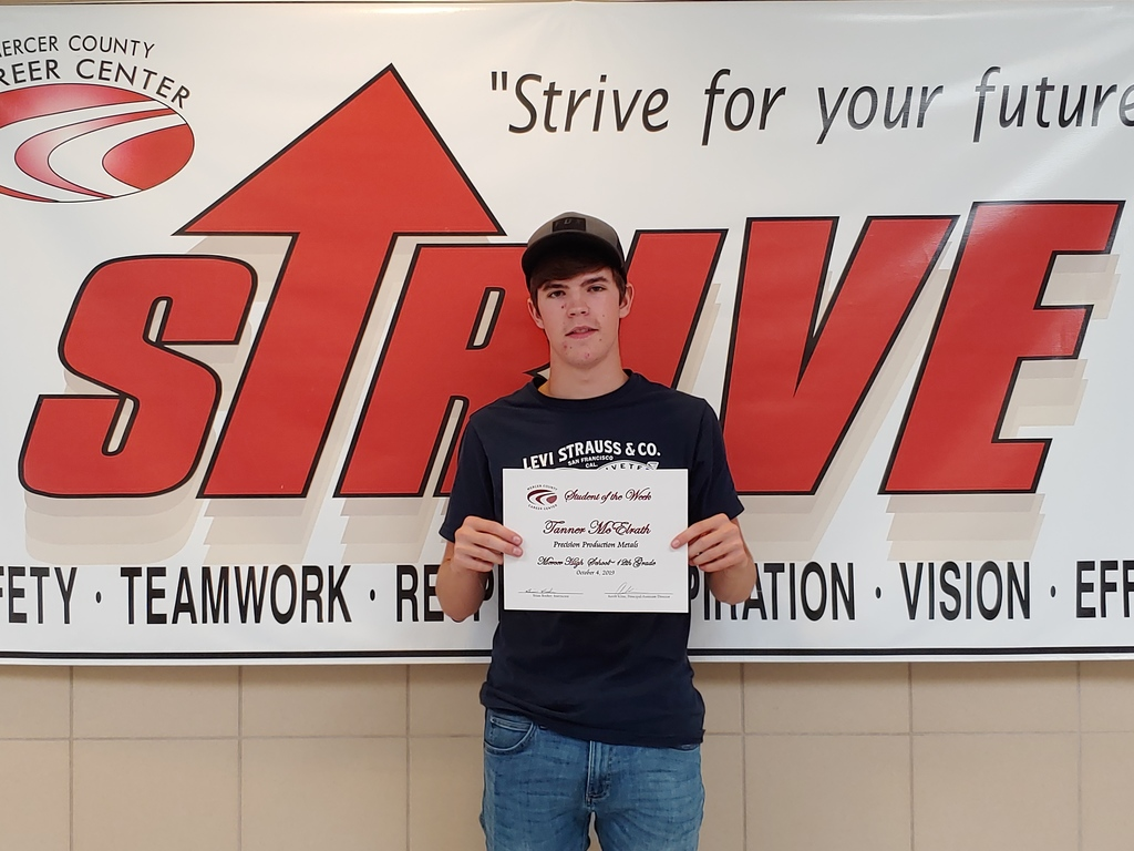 Tanner McElrath - MCCC Student of the Week